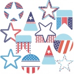 Stars And Stripes Cutout K-8