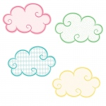 Clouds Mini Cutout Gr Pk-5 Assorted