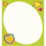 Bright Hearts Shape Notepad Gr Pk-8