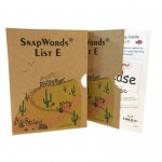 Snapwords Teaching Cards List E