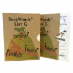 Snapwords Teaching Cards List G