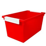 5qt Red Tattle Tray W Label Holder