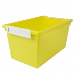 5qt Yellow Tattle Tray W Label Hold