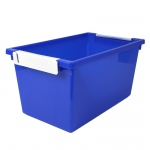 5qt Blue Tattle Tray W Label Holder