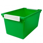 5qt Green Tattle Tray W Label Hold