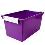5qt Purple Tattle Tray W Label Hold