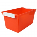 5qt Orange Tattle Tray W Label Hold