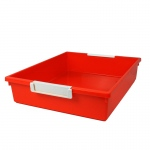 6qt Orange Tattle Tray W Label Hold