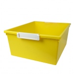 12qt Yellow Tray W Label Hold Tattle