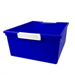 12qt Blue Tattle Tray W Label Hold