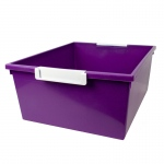 12qt Purple Tray W Label Hold Tattle