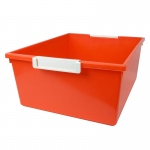12qt Orange Tray W Label Hold Tattle