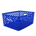 Small Blue Woven Basket