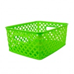 Small Lime Woven Basket