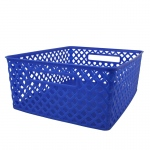 Medium Blue Woven Basket