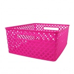 Medium Hot Pink Woven Basket