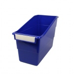Blue Shelf File With Label Holder Standard