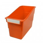Orange Shelf File With Label Holder Standard