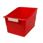 Wide Red File With Label Holder