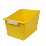 Wide Yellow File With Label Holder