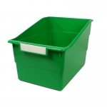 Wide Green File With Label Holder