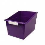 Wide Purple File With Label Holder