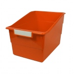 Wide Orange File With Label Holder
