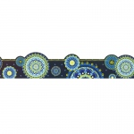 Blue Harmony Mandala Ex Wide Trim Die Cut Deco