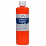 Fluorescent Orange Tempera Paint Handy Art Washable