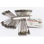 Charles Leonard Safety Pins: Assorted Sizes, Pack of 50
