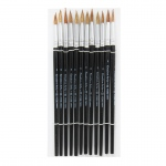 Charles Leonard Brushes Water Color Pointed #8 13/16 Camel Hair 12 Ct