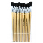Charles Leonard Brushes Easel Flat 3/4in Bristle 12ct