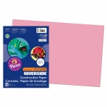 "Riverside Construction Paper: Pink, 12"" x 18"", Pack of 50 Sheets"