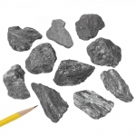Mineral Hematite: Black, Pack of 10