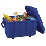 ECR4Kids Stackable Storage Trunk: Blue, Single