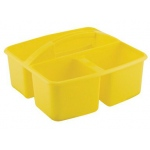 ECR4Kids 3 Compartment Small Caddy: Yellow
