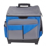 Gray/blue Roll Cart/organizer Bag