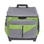 Gray/green Roll Cart/organizer Bag