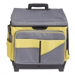Yellow Rolling Cart/organizer Bag