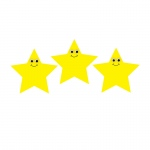 7in Happy Yellow Star Diecut Accent