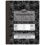 White Page Dual Ruled Composition Book