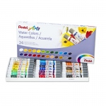 24 Color Pentel Arts Watercolor Set