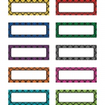 Plaid Magnetic Labels
