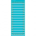 Light Blue Marquee 14 Pocket 13x34 Pocket Chart