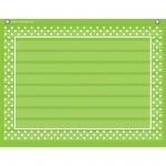 Lime Polka Dots 10 Pocket 17x22 Pocket Chart