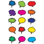 Colorful Speech Thought Bubbles Mini Accents