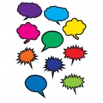 Colorful Speech Thought Bubbles Accents