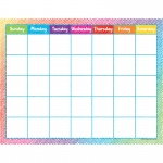 Colorful Scribble Calendar Chart