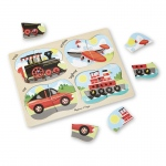 4 In 1 Vehicles Peg Puzzle