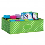 Medium Lime Polka Dots Storage Bin